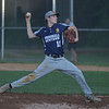 PETE  BANNAN-DIGITAL FIRST MEDIA         Broomall-Newtown pitcher (11) Tyler Bogan held Springfield scoreless in EDCO Thursday at Thomas Field in Marple. Broomall-Newtown went on to win and take the title two gmes to zero.