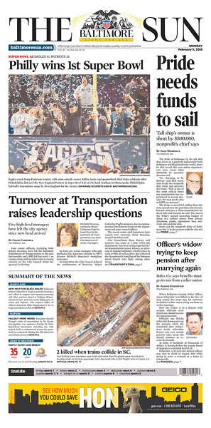 Front Pages: How the Eagles victory was played around country