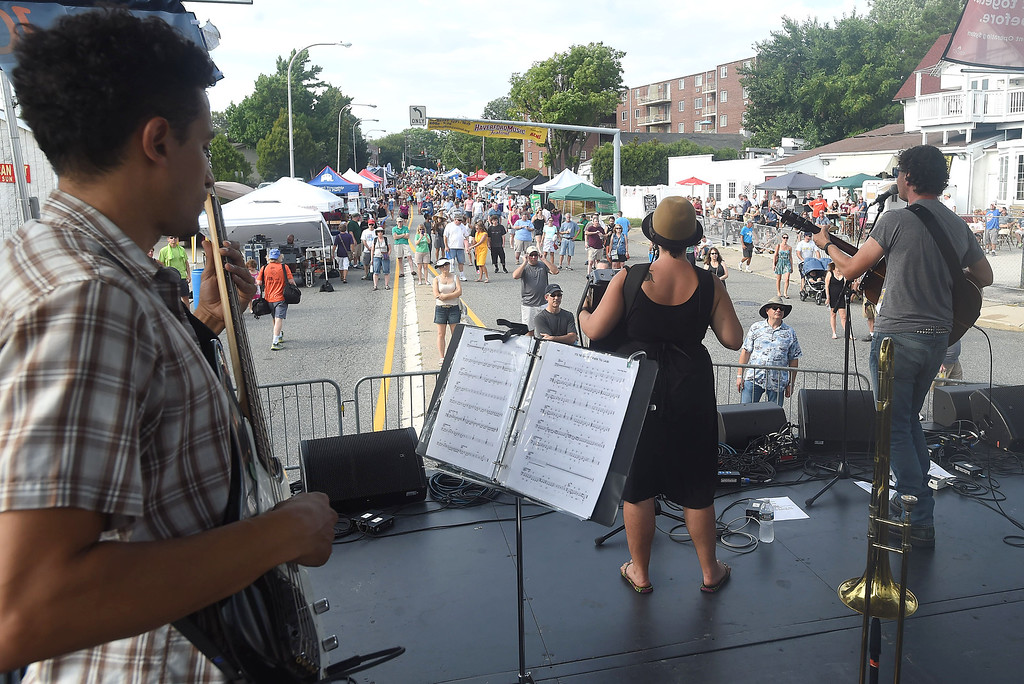 . PETE BANNAN-DIGITAL FIRST MEDIA    The John Byrne Band  performs at the Haverford Music Festival  Saturday Sept. 10, 2016.