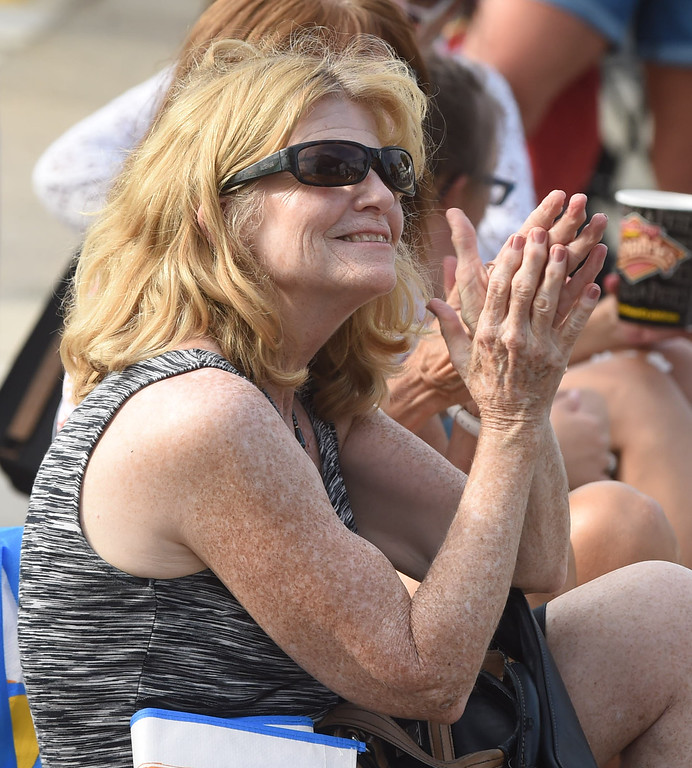 . PETE BANNAN-DIGITAL FIRST MEDIA   Fans enjoy The John Byrne Band at the Haverford Music Festival  Saturday Sept. 10, 2016.