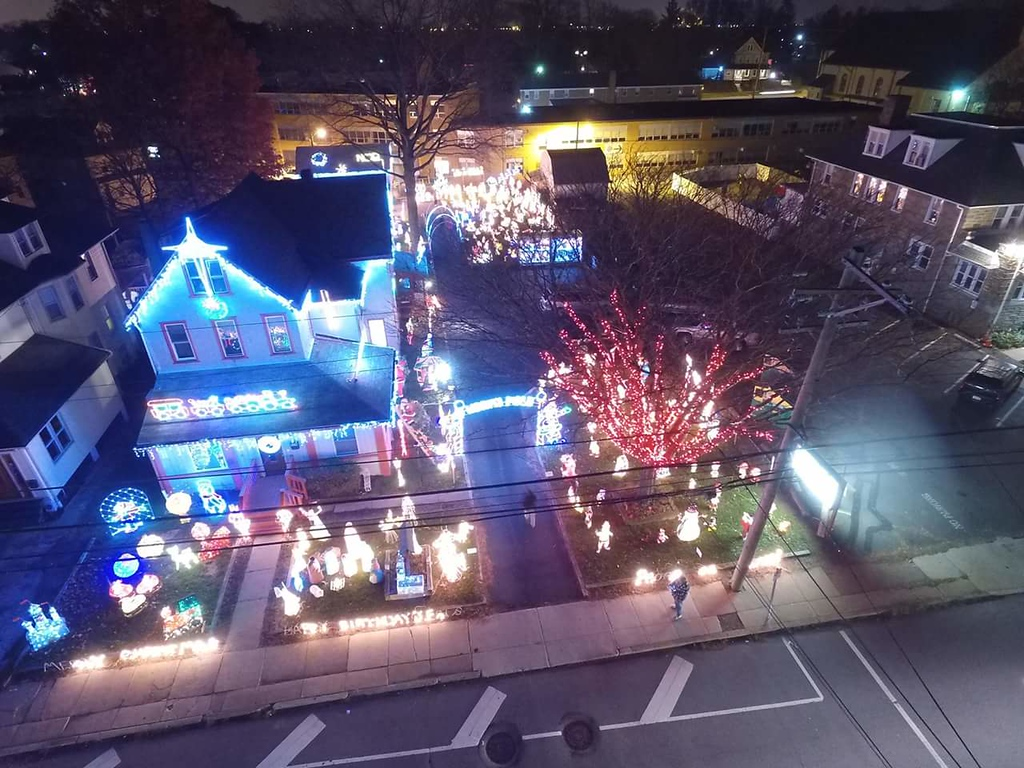 . An overhead view of 220 Chester Pike in Norwood kicks off this year�s Homes for the Holidays displays.