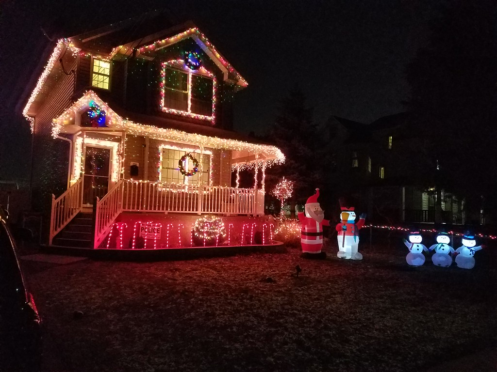 . The Hennessy home on North Bonsall Avenue in Glenolden is all lit up for the holiday season.
