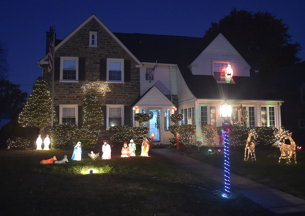 . PETE BANNAN-DIGITAL FIRST MEDIA   	 THis home decorated for the holiday is located on the 1200 block of Cornell Ave. in Drexel Hill.