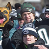 PETE BANNAN-DIGITAL FIRST MEDIA       Underdogs no more, Eagles fans wait for the parade along thr Parkway.