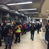 Trenton Transportation Center packed with Eagles fans as SEPTA ran three early-morning trains to Philadelphia for the Eagles Championship parade.<br /> L.A. Parker - The Trentonian