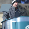 PETE BANNAN-DIGITAL FIRST MEDIA        Nick Foles speaks during the Eagles Championship Celebration.