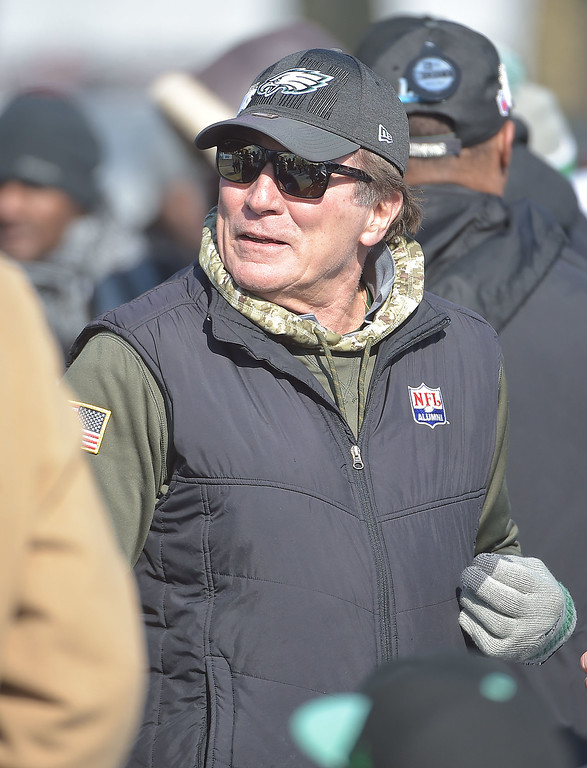 . PETE BANNAN-DIGITAL FIRST MEDIA       Eagles veteran Vince Papale was among those in attendance for the Eagles Championship Celebration.
