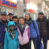 The Miller family of Yardley, PA., and friend Ryan (right) expected fun as they boarded a SEPTA 5:25 a.m. train to the Eagles championship parade.<br /> L.A. Parker - The Trentonian