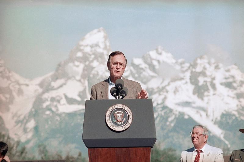 George H W Bush Grand Teton 1989