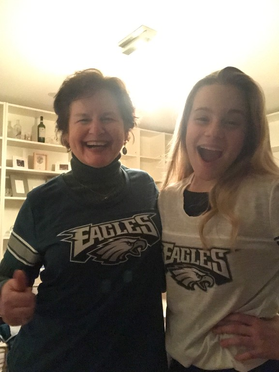 . Elaine & Kayleigh, Eagle Fans in Clearwater, FL