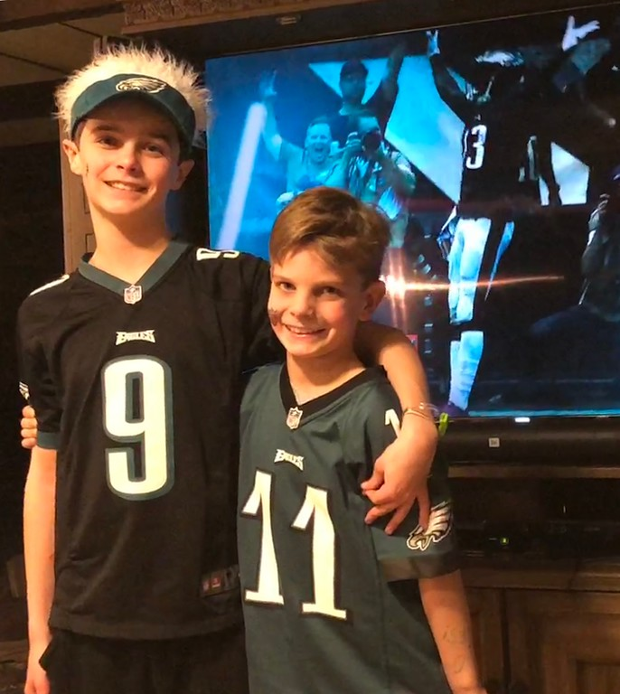 . A couple of happy Eagles fans. Photo from  Joseph Bongiovanni
