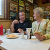RICK KAUFFMAN - DIGITAL FIRST MEDIA <br /> Jean Francis, right, said she met Pete Eleutheriou when they were in the third grade and have remained friends every since. She and husband, Rich Francis, left, reminisced with Eleutheriou over cheeseburgers Saturday.
