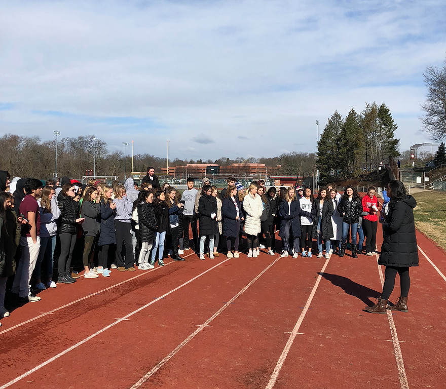. Radnor High School students walked out of class for National Walkout Day. (Submitted photo)