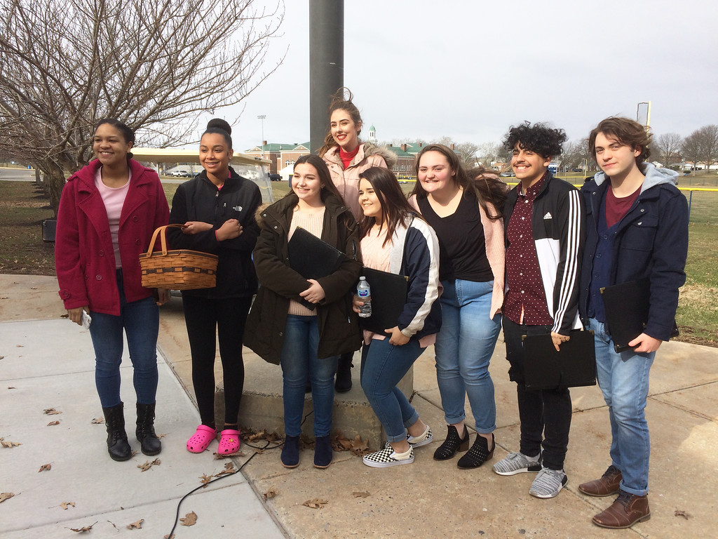 . Evan Brandt -- Digital First Media Pottstown High School\'s a capella choir also sang at the walk-out ceremonies at Pottstown High School Wednesday.
