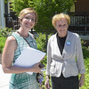 PETE BANNAN _ DIGITAL FIRST MEDIA  West Chester mayoral candidate Dianne Herrin with her mother, Barbara Taylor Tuesday afternoon at Ward 1 at the Mary Taylor House.