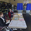 PETE BANNAN _ DIGITAL FIRST MEDIA    Poll workers at Upper Darby  District 4- precinct 8 wait for voters Tuesday morning at Highland Park Fire Company. Turnout was light throughout the day.