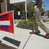 PETE BANNAN _ DIGITAL FIRST MEDIA  Voters  head for the polls Tuesday afternoon at Ward 1 at the Mary Taylor House.
