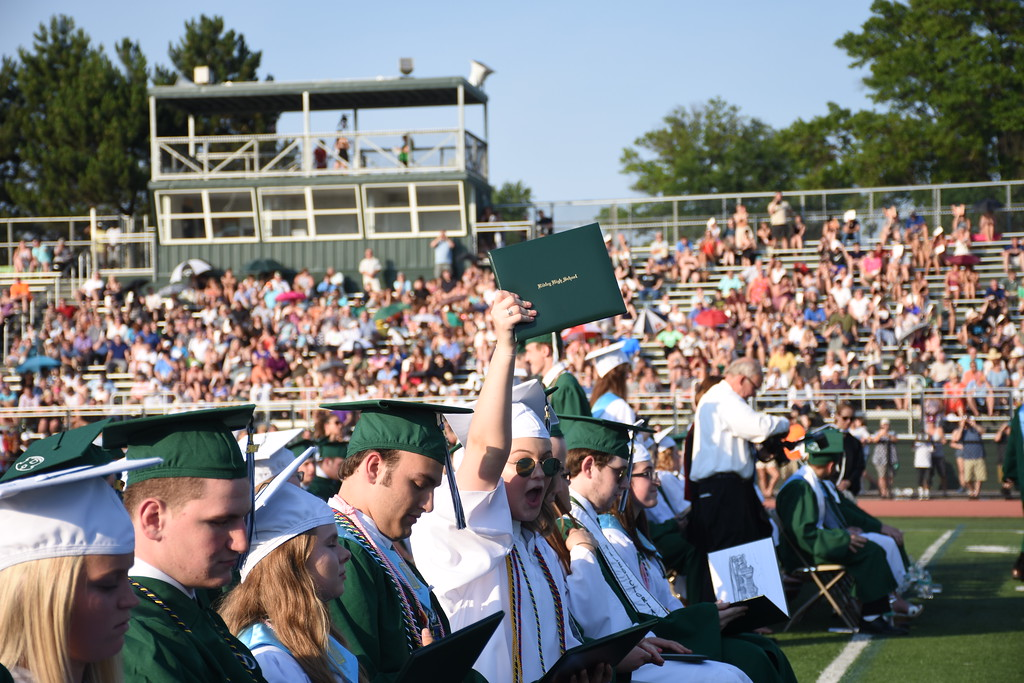 . Ridley High School\'s Class of 2017 graduation ceremony was held on their field on June 14, 2017