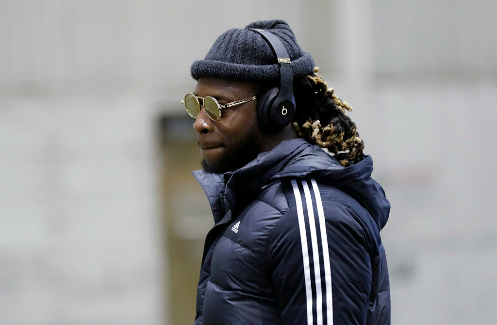 . Philadelphia Eagles defensive back Randall Goforth arrives with teammates for the NFL Super Bowl 52 football game Sunday, Jan. 28, 2018, in Minneapolis. Philadelphia a a scheduled to face the New England Patriots. (AP Photo/Eric Gay)