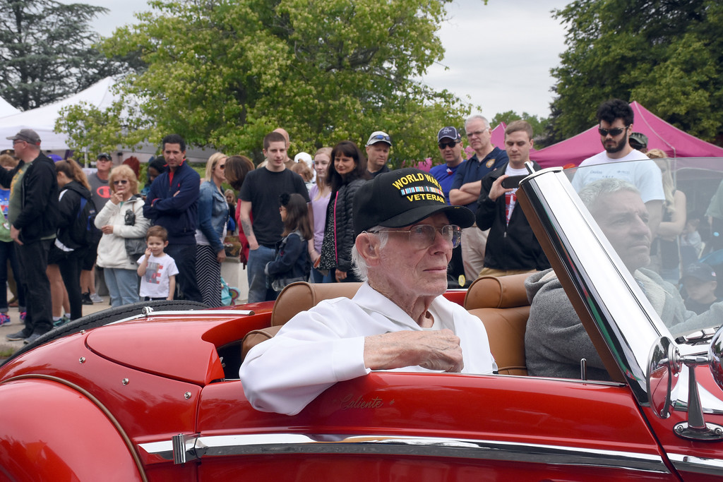 . Riding in the parade is World War Veteran, Jim Gullborg, 92 of Newtown Square.