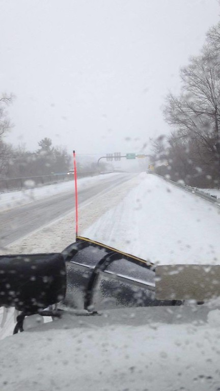 . A view from a plow truck at Paoli Pike and Route 202. Photo by Patti Paul