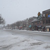 PETE  BANNAN-DIGITAL FIRST MEDIA     Lancaster Ave. in  Wayne is empty Tuesday morning. The Township declared a snow emergency to make clearing the roads easier.