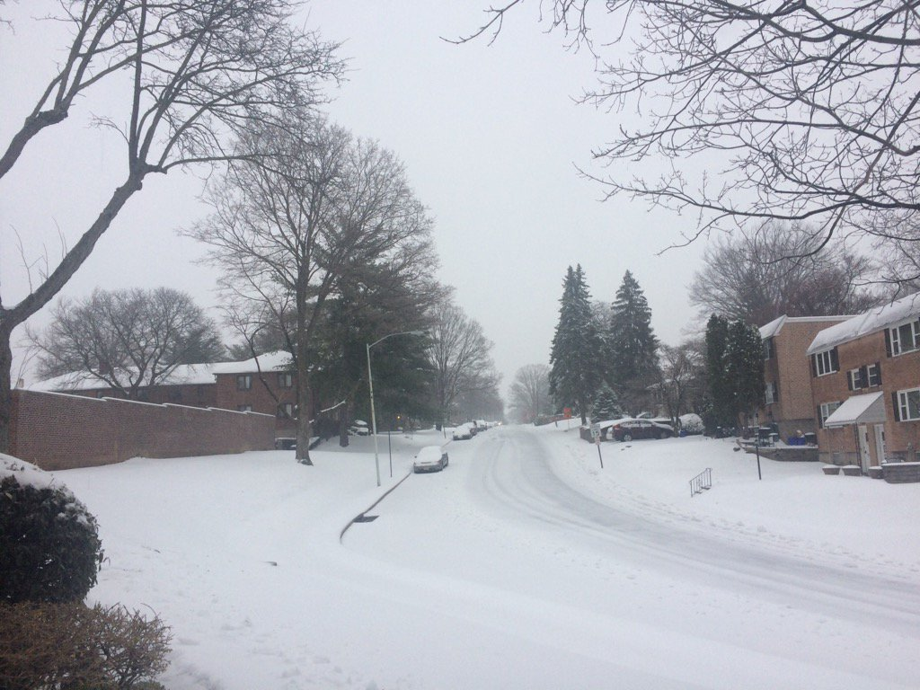. Plows have cleared some in Drexel Hill. Photo by Kathleen E. Carey