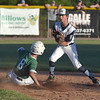PETE  BANNAN-DIGITAL FIRST MEDIA       Ridley area (8) Irv Fisher slides into second ahead of the grab by Aston Middletown shortstop Sam Diddons in District 19 Little League Majors tournament  Monday evening  Aston went on to win 4-1. The teams will compete again Tuesday night.