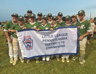 Ridley Little League District 19 tournament Champions