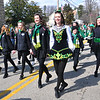 PETE  BANNAN-DIGITAL FIRST MEDIA      Caitlyn Coile of Havertown ,center, joined her fellow dancers from McKenna-Cara School of Irish Dance at Springfield's St. Patrick Day Saturday.
