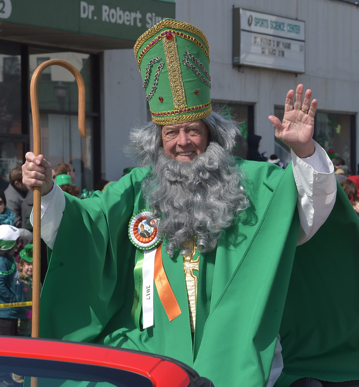 . PETE  BANNAN-DIGITAL FIRST MEDIA    Joe McGinn portrayed one of a number of St. Patrick\'s at Springfield\'s St. Patrick Day Saturday.