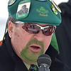 PETE  BANNAN-DIGITAL FIRST MEDIA      Doctor Chic Miller  handled the anouncing with Mike Concannon for Springfield's St. Patrick Day Saturday.