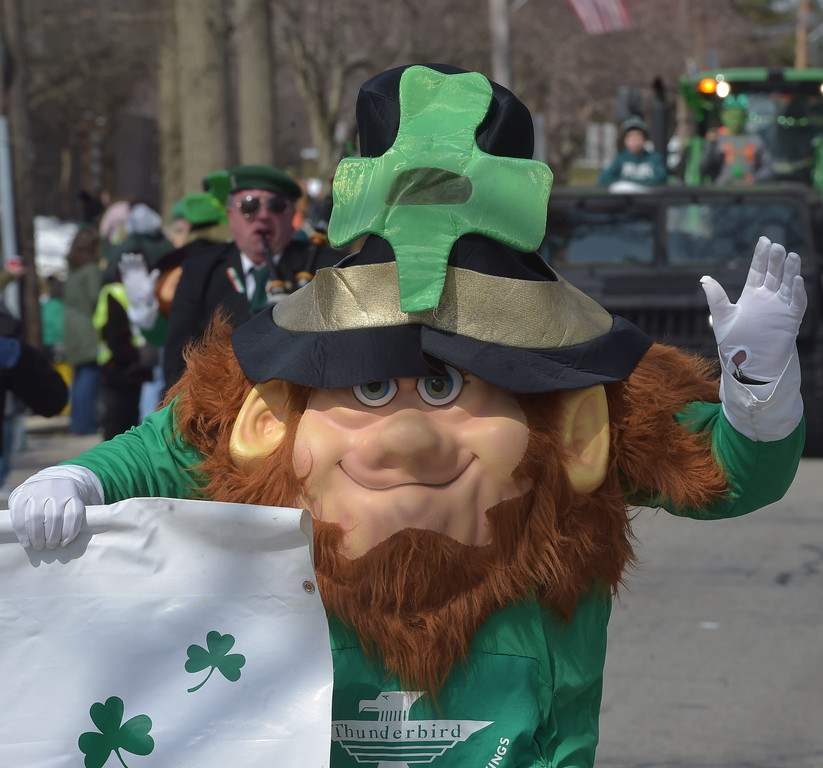 . PETE  BANNAN-DIGITAL FIRST MEDIA     This troll  marched with Thunderbird II at Springfield\'s St. Patrick Day Saturday.