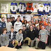 PETE  BANNAN-DIGITAL FIRST MEDIA        Members of the Springfield ice hockey team had a visit from Philadelphia Flyers forward, Braydon Schenn,back row center, Monday to thank them for their support. The visit came about as a result of efforts by Language Arts teacher and avowed hockey nut, Denise Mroz who coined the term 'Schennergy'.