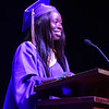 PETE  BANNAN-DIGITAL FIRST MEDIA           Upper Darby High School commencement speaker Jerenita Sokan gave a Graduation Welcome during their 120th commencement which was held at the Tower theater Thursday morning.