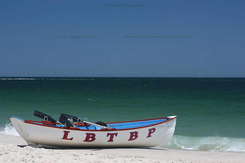 "(124) ""Ready for Action"" 7/19/10<br /> A Long Beach Township Beach Patrol boat stands at the ready, but hopes it is not needed. <br /> Have a great day everyone!"