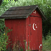 "(162) ""Outhouse"" 8/25/10<br /> Thought it was quaint :)<br /> Nothing but cool temps and rain in the area for the past four days, but summer weather should be back soon.  Hope the week is going well so far!"