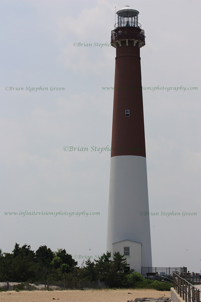 "(106) ""Old Barney"" 7/1/10<br /> Barnegat Lighthouse sits at the northern end of Long Beach Island in NJ.  Built from 1857-58, the 217 step lighthouse stands 165ft above sea level.  On a clear day, climbing to the top offers an impressive view of the island, the mainland, bay and the ocean.  Along the way up are lots of old photos and tidbits of history.  Unfortunately, didn't have time to make the climb this visit.  Maybe this coming weekend.<br /> Hope the week is going well for all.  Happy July everyone, and happy Canada Day to those that celebrate!"