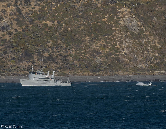 Patrol vessel doubles as tug