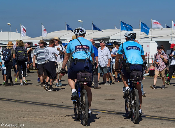 Bobbies on bicycles, two by two