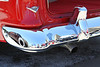 April 25, 2012 Car Show, SP - re-chromed bumper on a 55 Chevy,   I will be my own stranger for today.