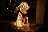 """December 9, 2012 """"Front Yard Dog""""  Phyllis though Maggie should have a friend at the front yard during the Christmas season.."""