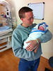 November 25, 2010 -  A wonderful Thanksgiving season as my son holds Nathaniel for the first time after his birth last Monday