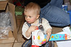 "December 19, 2011 ""this one is mine""  Nathaniel after opening is ""Popper"""