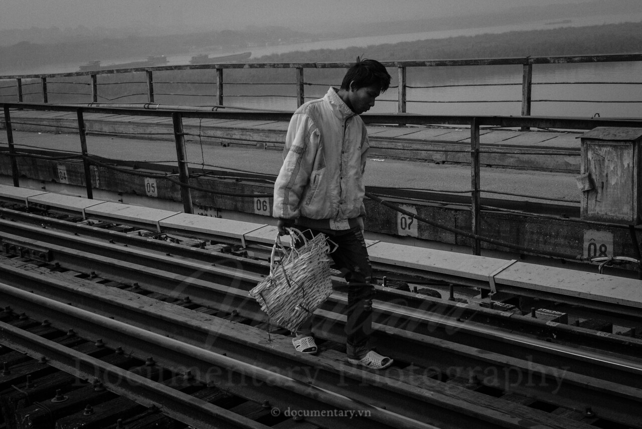 Walking on the railway