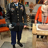 A bronze sculpture of hometown hero Sgt. Leroy Petry will feature one hand of polished chrome, the one that he lost in battle in Iraq. Pojoaque Pueblo Governor George Rivera is giving the statute -- a work in progress -- as a gift, and it will be erected on the lawn of City Hall next year.<br /> Clyde Mueller/The New Mexican