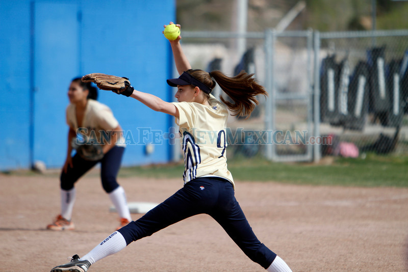 The Santa Fe High Vs St Michael's High School at St. Mike's on April 10, 2012.<br /> <br /> Photo by Luis Sanchez Saturno/The New Mexican