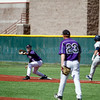 Highlands pitcher Trent Evins, number 23, watches as Eric Maupin, number 33, gets the last out of the top of the fourth inning of the New Mexico Highlands University vs Metro State at Highlands on April 8, 2011.<br /> <br /> Photo by Luis Sanchez Saturno/The New Mexican