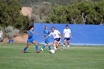 The second half of the first non-district match between Santa Fe Pre and Santa Fe High School at Prep on Aug 22, 2011.  Photo by Luis Sánchez Saturno/The New Mexican