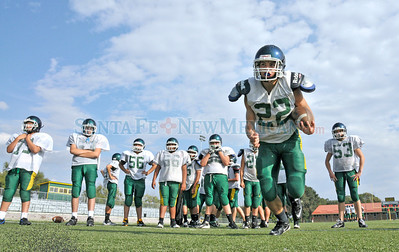 West Las Vegas High School Don's varsity football team practice at Frank Herrera Complex in Las Vegas , New Mexico Tuesday, August 21. 2112. Clyde Mueller/The New Mexican